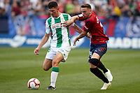 Kike Barja (forward; CA Osasuna) during the Spanish football of La Liga 123, match between CA Osasuna and Cordoba CF at the Sadar stadium, in Pamplona (Navarra), Spain, on Saturday, October 13, 2018.