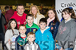 Up for the game<br /> ---------------------<br /> L-R William&amp;Alba Daughton, Ciaran, Ge&aacute;roid, Ois&iacute;n, Brenda&amp;Jack Purcell with Paula Clifford&amp;Bl&aacute;thnaid McCarthy all at the Tralee Warriors basketball game in the Tralee sports complex last Saturday night.
