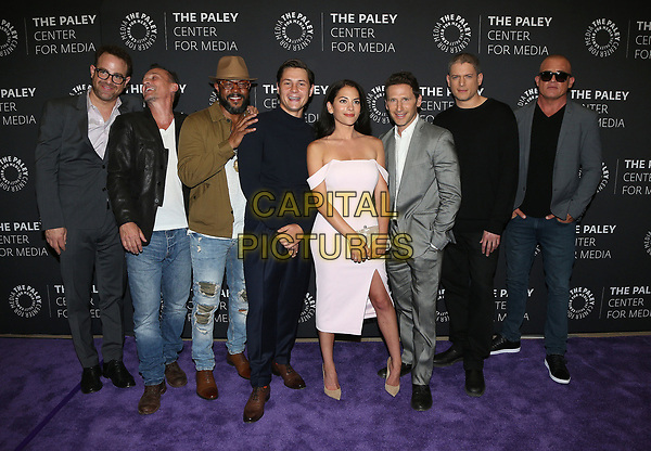 29 March 2017 - Beverly Hills, California - Paul Adelstein, Robert Knepper, Rockmond Dunbar, Augustus Prew, Inbar Lavi, Mark Feuerstein, Wentworth Miller, Dominic Purcell. 2017 PaleyLive LA Spring Season - &quot;Prison Break&quot; Screening And Conversation held at The Paley Center for Media.    <br /> CAP/ADM/FS<br /> &copy;FS/ADM/Capital Pictures