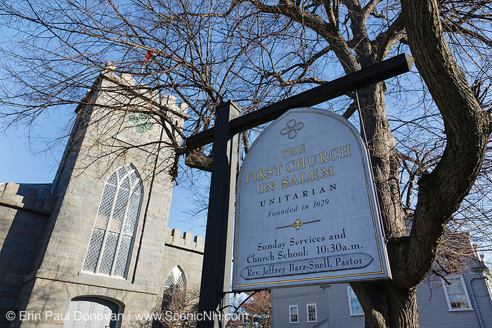 The First Church in Salem, Massachusetts USA which is part of New England