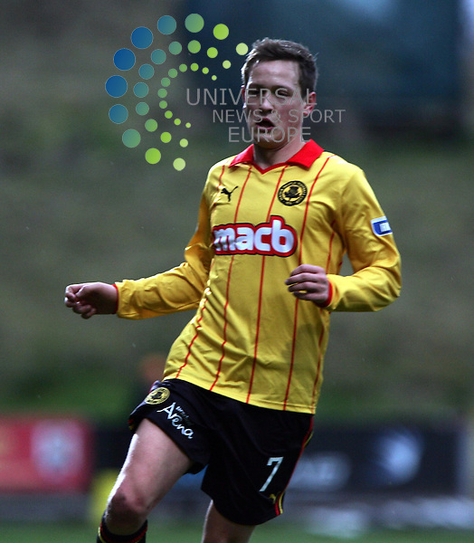 Partick Thistle v Cowdenbeath.Irn Bru 1st Division.Saturday 26th Jan 2013.Firhill Stadium -- Score 2-1.James Craigen got his first start of the season.Photo by Tommy Taylor Universal News and Sport