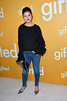 Actress Tiffany Amber Thiessan at the premiere for &quot;Gifted&quot; at The Grove. Los Angeles, USA 04 April  2017<br /> Picture: Paul Smith/Featureflash/SilverHub 0208 004 5359 sales@silverhubmedia.com