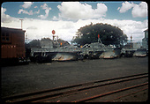 3 Flangers - OC - in rail yard. Tank to far right.<br /> D&amp;RGW