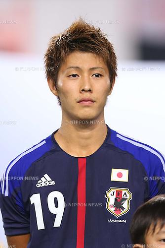 Yoichiro Kakitani (JPN), <br /> AUGUST 14, 2013 - Football / Soccer : <br /> KIRIN Challenge Cup 2013 match <br /> between Japan 2-4 Uruguay <br /> at Miyagi Stadium, Miyagi, Japan.<br />  (Photo by AFLO SPORT)