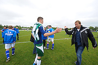 VOETBAL: JOURE: Sportpark Hege Simmerdyk, 26-05-2013, Nacompetitie, SC Joure - Hoogeveen, Eindstand 2-2, Tjisse Kerkstra, trainer Gerrie Schouwenaar, ©foto Martin de Jong