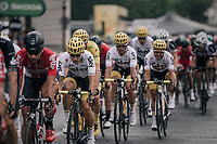 Team SKY/Michal Kwiatkowski (POL/SKY) escorting Chris Froome (GBR/SKY) towards his 4th overall victory in the Tour on the Champs-Elysées<br /> <br /> 104th Tour de France 2017<br /> Stage 21 - Montgeron › Paris (105km)
