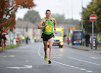 26/10/2015; 2015 SSE Airtricity Dublin Marathon, St Laurence's Road, Dublin. <br /> Barry Minnock of Rathfarnham AC.<br /> Picture credit: Tommy Grealy/actionshots.ie.
