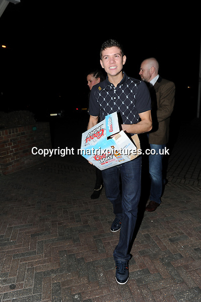 "NON EXCLUSIVE PICTURE: MATRIXPICTURES.CO.UK.PLEASE CREDIT ALL USES..WORLD RIGHTS..""Dancing On Ice"" contestant and British Olympic boxer Luke Campbell MBE is pictured arriving at a North London hotel after the final show...MARCH 10th 2013..REF: HRM 131598"