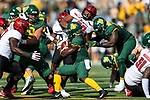 Baylor Bears running back JaMycal Hasty (6) in action during the game between the Texas Tech Red Raiders and the Baylor Bears at the McLane Stadium in Waco, Texas.