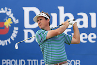Gonzalo Fernandez-Castano (ESP) tees off the 1st tee during Saturday's Round 3 of the 2018 Dubai Duty Free Irish Open, held at Ballyliffin Golf Club, Ireland. 7th July 2018.<br /> Picture: Eoin Clarke | Golffile<br /> <br /> <br /> All photos usage must carry mandatory copyright credit (&copy; Golffile | Eoin Clarke)