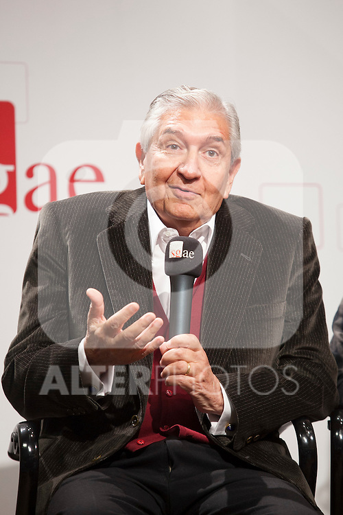 Writer Herbert Morote during the `Olivia y Eugenio´ theater play presentation in Madrid, Spain. October 21, 2014. (ALTERPHOTOS/Victor Blanco)
