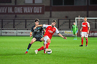 Fleetwood Town's midfielder Jack Sowerby (28) during the The Leasing.com Trophy match between Fleetwood Town and Liverpool U21 at Highbury Stadium, Fleetwood, England on 25 September 2019. Photo by Stephen Buckley / PRiME Media Images.