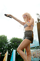 BRIGHTON, ENGLAND - AUGUST 4: Pixie Lott performing at Brighton and Hove Pride, Preston Park on August 4, 2018 in London, England.<br /> CAP/MAR<br /> &copy;MAR/Capital Pictures