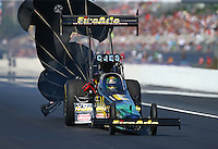 Mar 20, 2016; Gainesville, FL, USA; NHRA top fuel driver Leah Pritchett during the Gatornationals at Auto Plus Raceway at Gainesville. Mandatory Credit: Mark J. Rebilas-USA TODAY Sports