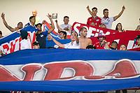 BELO HORIZONTE, MG, 23.04.2019: ATLETICO-MG X NACIONAL-URU-  Torcida do Nacional durante partida entre Atletico-MG x Nacional-URU,  válida pela 5a rodada do grupo E da Copa Libertadores 2019,  no Estadio Mineirão em Belo Horizonte, MG, na noite desta terça feira (23) (foto Giazi Cavalcante/Codigo19)