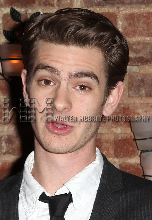 Andrew Garfield presents award to Mike Nichols.at the New York Drama Critics' Circle Awards at Angus McIndoe in New York City on 5/14/2012..attending the New York Drama Critics' Circle Awards at Angus McIndoe in New York City on 5/14/2012.