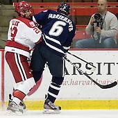 David Valek (Harvard - 22), Trevor van Riemsdyk (UNH - 6) - The Harvard University Crimson defeated the University of New Hampshire Wildcats 7-6 on Tuesday, November 22, 2011, at Bright Hockey Center in Cambridge, Massachusetts.