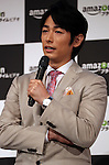 "May 31, 2016, Tokyo, Japan - Cast of Amazon Japan's original drama ""Hapimari, Happy Marriage!?"" Dean Fujioka speaks at a promotional event for Amazon Prime Video in Tokyo on Tuesday, May 31, 2016. Amazon Japan announced they would increase original contents for Amazon' video distribution service in Japan.      (Photo by Yoshio Tsunoda/AFLO)"