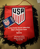 Chester, PA - Monday May 28, 2018: USMNT vs Bolivia during an international friendly match between the men's national teams of the United States (USA) and Bolivia (BOL) at Talen Energy Stadium.