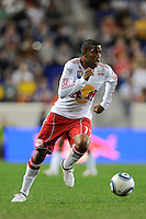 Jeremy Hall (17) of the New York Red Bulls during the second half of a friendly between Santos FC and the New York Red Bulls at Red Bull Arena in Harrison, NJ, on March 20, 2010. The Red Bulls defeated Santos FC 3-1.