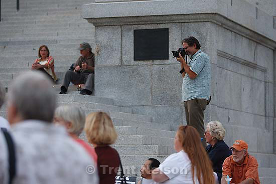 Salt Lake City - MoveOn.Org sponsored a rally at the state capitol calling for health care reform, Wednesday, September 2 2009. .Tom Szalay