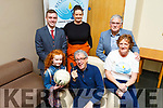Recovery Haven launching their Sports panel night fundraiser in the Ballyroe Heights Hotel on Tuesday.<br /> Seated: Billy Keane (MC) with Hanna O'Connell. <br /> Standing l to r:  Jonathan Collins,  Marisa Reidy, Dermot Crowley and Philomena Stack