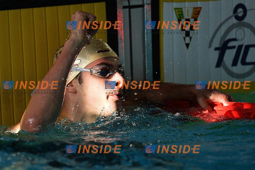 Stefano Mauro Pizzamiglio Fiamme Oro 50m Dorso Uomini .Riccione 20/12/2012 Piscina Comunale .Campionati Italiani Asssoluti Invernali Open Nuoto Riccione 2012  .Foto Andrea Staccioli Insidefoto