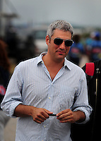 Apr 27, 2008; Talladega, AL, USA; Recording artist Taylor Hicks prior to the NASCAR Sprint Cup series Aarons 499 at Talladega Superspeedway. Mandatory Credit: Mark J. Rebilas-