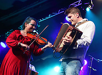 Eliza Carthy and the Wayward Band performs at the Cambridge Folk Festival 2018, Cherry Hinton Hall, Cambridge, England, UK on 3rd and 4th August 2018.<br /> CAP/ROS<br /> &copy;ROS/Capital Pictures