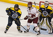 Felila Manu (Merrimack - 4), Delaney Belinskas (BC - 17), Samantha Ridgewell (Merrimack - 34) - The number one seeded Boston College Eagles defeated the eight seeded Merrimack College Warriors 1-0 to sweep their Hockey East quarterfinal series on Friday, February 24, 2017, at Kelley Rink in Conte Forum in Chestnut Hill, Massachusetts.The number one seeded Boston College Eagles defeated the eight seeded Merrimack College Warriors 1-0 to sweep their Hockey East quarterfinal series on Friday, February 24, 2017, at Kelley Rink in Conte Forum in Chestnut Hill, Massachusetts.