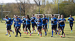 Rangers training in thew sun at Murray Park