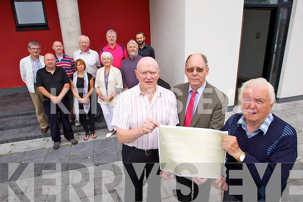 Killorglin archive society who are mounting a memorial plaque to the Kerry men who died in World War One, in front from left: James Galvin, Stephen Thompson and Pat Rochfort. Back from left: Donal Mangan, Terrence Houlihan, Mike Foley, Tracey Spencer, Edso Crowley, Eileen McGillycuddy, Ger Counihan Johnny Porridge O'Connor and Shane Ferris.