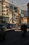 Neuchatel busy street,  Neuchatel, Switzerland.