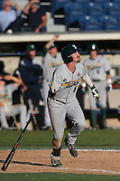 Lex Kaplan #6 of the Tulane Green Wave bats during a game against the Pepperdine Waves at Eddy D. Field Stadium on March 13, 2015 in Malibu, California. Tulane defeated Pepperdine, 9-3. (Larry Goren/Four Seam Images)