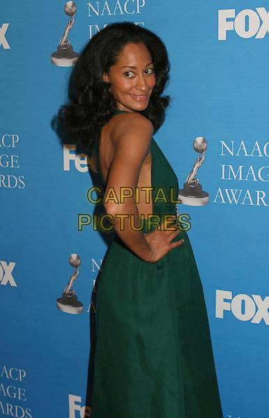 TRACEE ELLIS ROSS.37th NAACP Image Awards Nominee Luncheon held at the Beverly Hilton Hotel, Beverly Hills, California, USA..February 11th, 2006.Photo: Byron Purvis/AdMedia/Capital Pictures.Ref: BP/ADM.half length looking over shoulder green.www.capitalpictures.com.sales@capitalpictures.com.© Capital Pictures.
