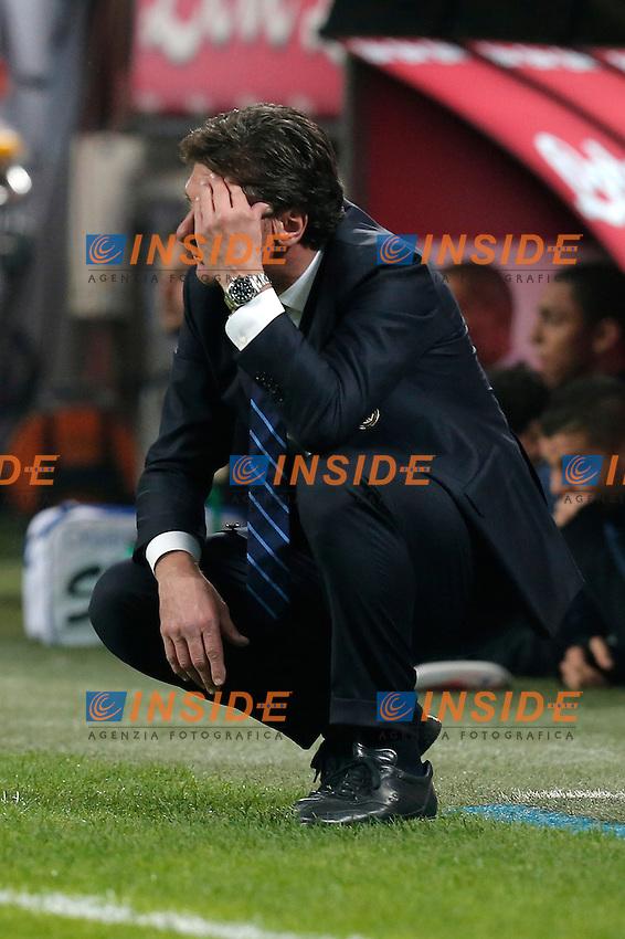 Walter Mazzarri Inter,<br /> Milano 05-10-2013<br /> Stadio Giuseppe Meazza <br /> Football Calcio 2013/2014 Serie A <br /> Inter - Roma<br /> Foto Marco Bertorello Insidefoto