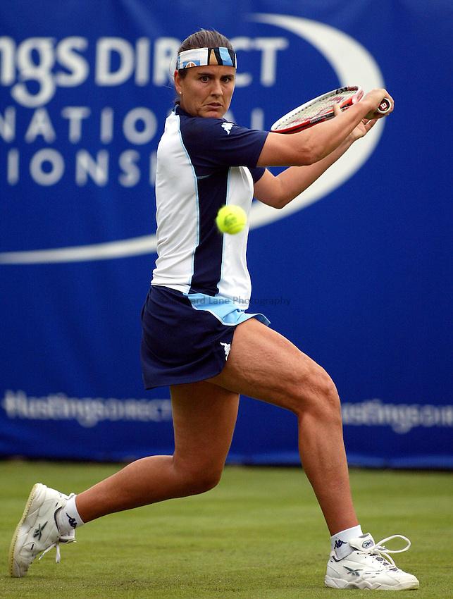 Photograph: Scott Heavey..Hastings Direct Womens Tennis.  Eastbourne. 18/06/2003..Conchita Martinez