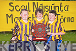 HURLING SKILS: The Abbeydorney NS hurling skill team winners of the Kerry Primary Schools Hurling Skills l-r: Cillian Spillane (individual skills winner), Oisin Mausell  and Owen McCarthy...