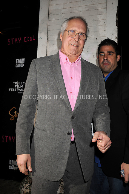 WWW.ACEPIXS.COM . . . . . ....April 23 2009, New York City....Actor Chevy Chase at the after party for 'Stay Cool' during the 2009 Tribeca Film Festival at Tenjune on April 23, 2009 in New York City.....Please byline: KRISTIN CALLAHAN - ACEPIXS.COM.. . . . . . ..Ace Pictures, Inc:  ..tel: (212) 243 8787 or (646) 769 0430..e-mail: info@acepixs.com..web: http://www.acepixs.com