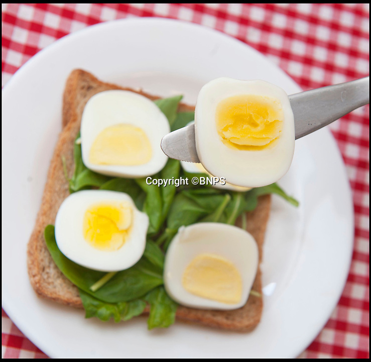 BNPS.co.uk (01202 558833)<br /> Pic: RachelTrump/BNPS<br /> <br /> FYI: The finished product, 'square' slices of egg. <br /> <br /> A clever gadget has been invented to solve the age-old problem of fitting slices of round egg in a square sandwich.<br /> <br /> For generations people have been chopping up circular pieces of egg and layering them on bread but being forced to leave gaps at the corners.<br /> <br /> A handy device has now been created which turns the oval snack into a cube, making it easier to hold still and cut up.<br /> <br /> The contraption, known as the Egg-Q-Ber, is a jar in which hard-boiled eggs are placed and squashed into the new shape.<br /> <br /> A user simply has to cook their egg, peel off the shell, place it in the container with a dash of oil, and screw on the lid.<br /> <br /> After just one minute, the egg will have moulded to a cube shape and can be chopped up ready for sandwiches and salads.<br /> <br /> People who have purchased the product have posted reviews praising it online, including one user who said it was a 'Brilliant innovative gadget.'<br /> <br /> The 3.5 by 2.5 inch gadget can be purchased at Firebox.com<br /> <br /> Ben Redhead, head of buying for the website, said: &quot;Boiled eggs have been the bane of picnics and pack-lunches the world over due to their completely illogical shape.