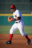 Florida Fire Frogs first baseman Carlos Castro (30) during a game against the Daytona Tortugas on April 6, 2017 at Osceola County Stadium in Kissimmee, Florida.  Daytona defeated Florida 3-1.  (Mike Janes/Four Seam Images)