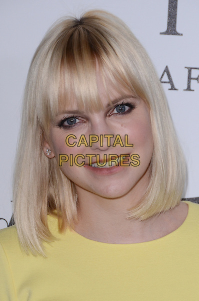 Anna Faris.The Motion Picture & Television Fund Presentation of 'Reel Stories Real Lives'  held at Milk Studios, Los Angeles, California, USA, 20th October 2012..portrait headshot yellow fringe bob .CAP/ADM/TW.©Tonya Wise/AdMedia/Capital Pictures.