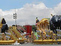 SAO PAULO, SP, 06 DE FEVEREIRO 2013. CARNAVAL 2013 - MOVIMENTACAO - Movimentacao de carros alegoricos, no anhembi, nesta quarta-feira (6), na zona norte da capital paulista. FOTO: MAURICIO CAMARGO / BRAZIL PHOTO PRESS.