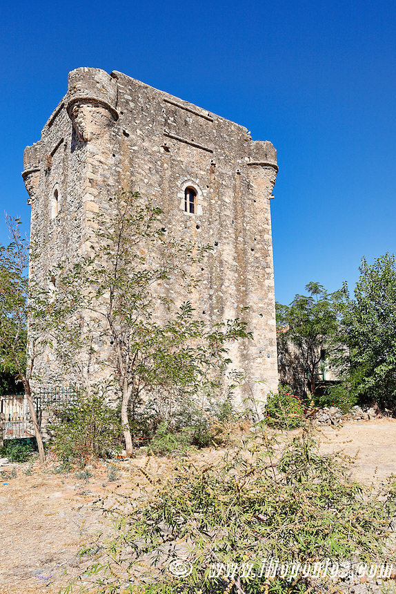 A tower of the village Agios Dimitrios in Mani, Greece