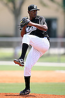 April 14, 2009:  Pitcher Jhan Marinez of the Florida Marlins extended spring training team delivers a pitch during a game at Roger Dean Stadium Training Complex in Jupiter, FL.  Photo by:  Mike Janes/Four Seam Images