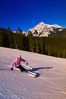 Skiing at Ski Norquay, Banff, Banff National Park, Alberta, Canada