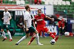 27.06.2020, wohninvest , nphgm001, WESERSTADION, Bremen, Ligaspiel, 1. Bundesliga, SV Werder Bremen vs 1. FC Koeln, im Bild v.l. Kevin Vogt (3, Bremen), Dominick Drexler (24, Koeln)<br /> Foto: Joachim Sielski/Sielski-Press/Pool/gumzmedia/nordphoto<br /><br />DFL regulations prohibit any use of photographs as image sequences and/or quasi-video.<br />EDITORIAL USE ONLY<br />National and international News-Agencies OUT.