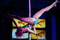 Kata Balogh performs during the Miss Poledance Hungary 2011 competition in Budapest, Hungary on September 03, 2011. ATTILA VOLGYI