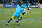 5th November 2017, Damson Park, Solihull, England; FA Cup first round, Solihull Moors versus Wycombe Wanderers; Charlie Bannister of Solihull Moors warms-up prior to the match
