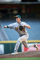 Oakland Athletics pitcher Nolan Blackwood (48) during an Instructional League game against the Arizona Diamondbacks on October 15, 2016 at Chase Field in Phoenix, Arizona.  (Mike Janes/Four Seam Images)
